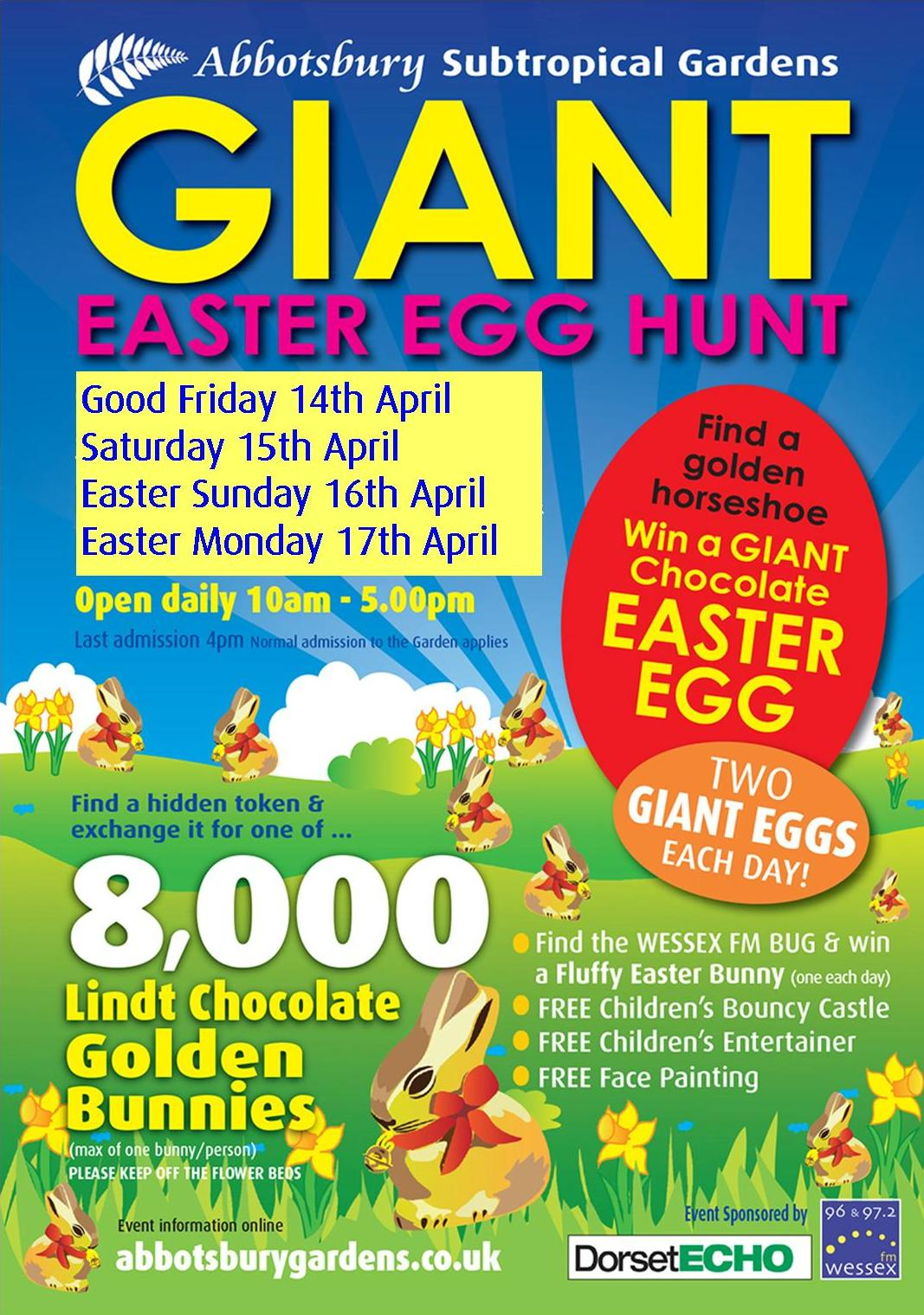 THE GIANT EASTER EGG HUNT - Warren House Bed and Breakfast